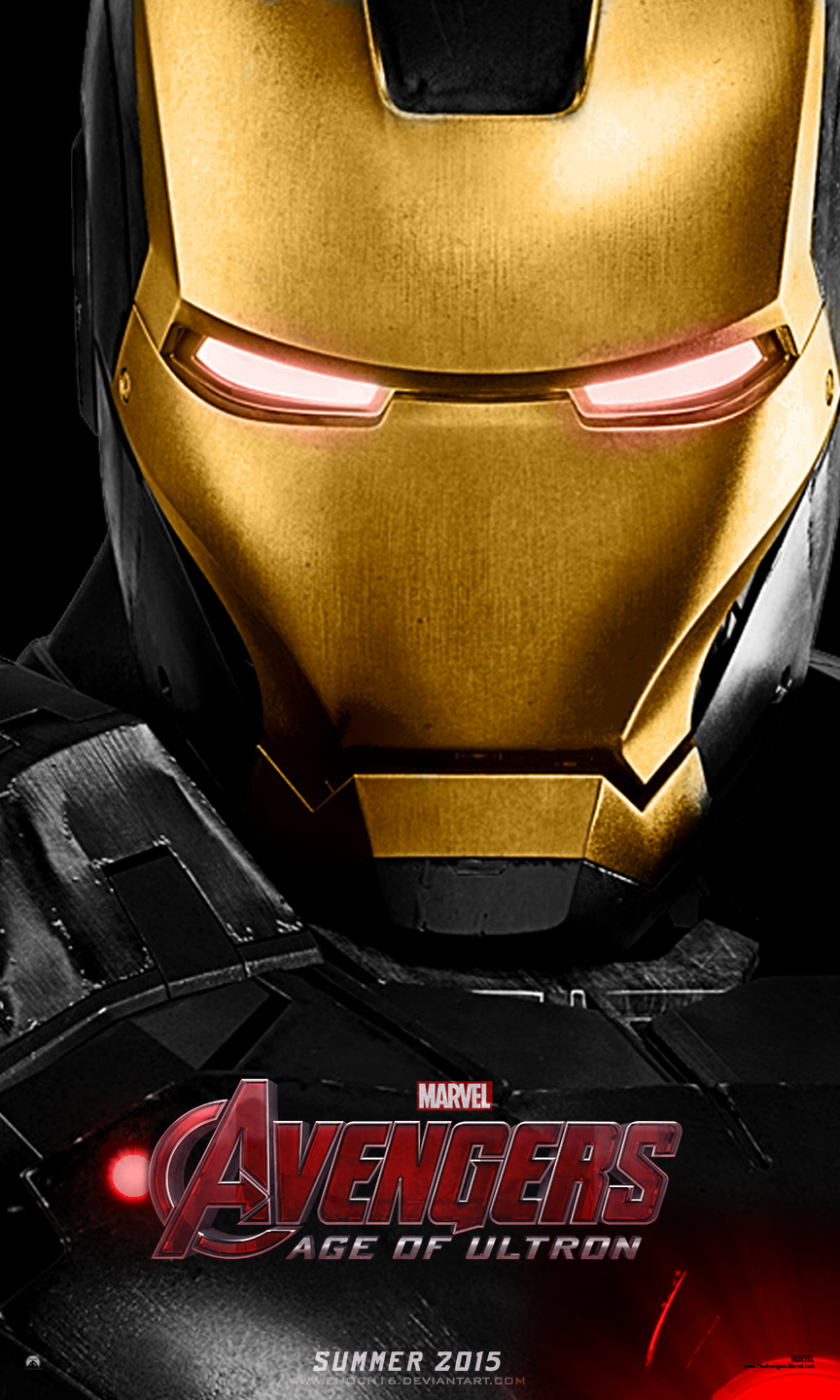 The Avengers Age Of Ultron Poster Black Iron Man by Enoch16