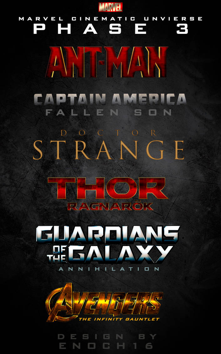Phase 3 Marvel Cinematic Universe LOGOS by Enoch16 on DeviantArt