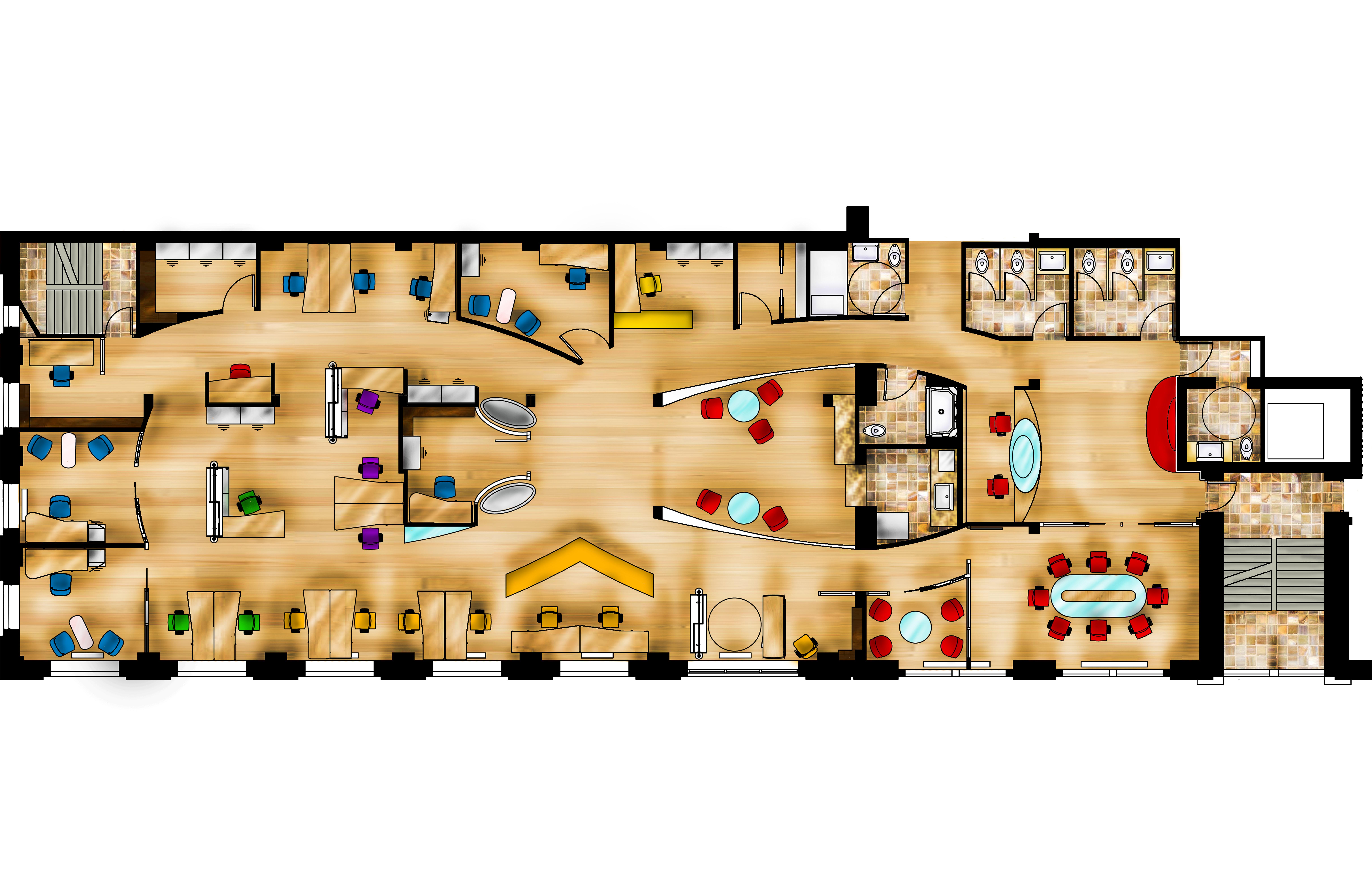 Rendered plan by belovedzombie on deviantart for Rendered floor plan