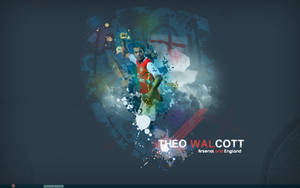 Theo walcott wallpaper by gio0989