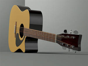 my yamaha guitar in 3ds max