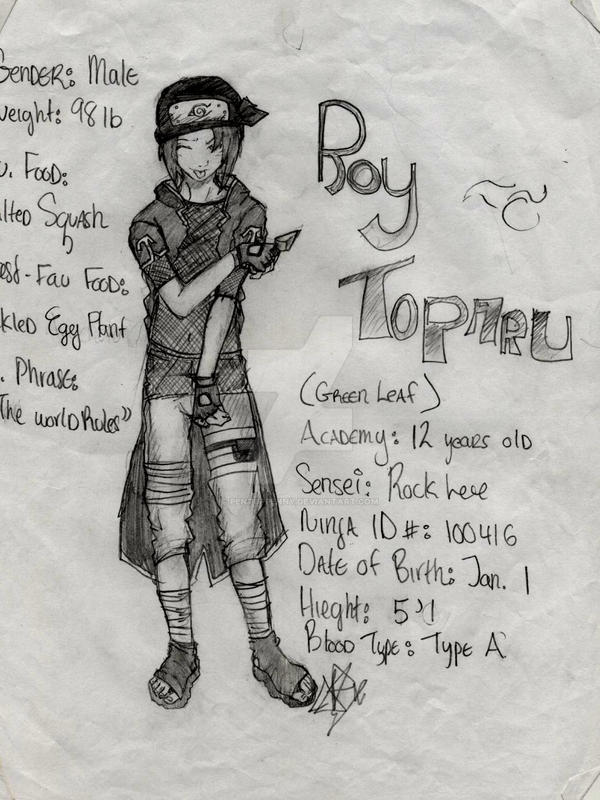 Roy a naruto made up character by PentupPenny on DeviantArt
