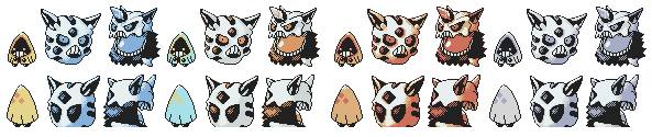 Snorunt Family GSC Sprites by Axel-Comics