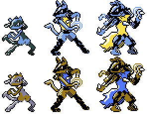 Riolu Family GSC Sprites by Axel-Comics