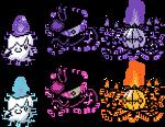Litwick Lampent Chandelure GSC Sprites