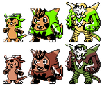 Chespin Quilladin Chesnaught GSC Sprites