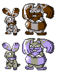 Bunnelby Diggersby GSC Sprites