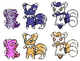 Espurr Meowstic GSC Sprites by Axel-Comics