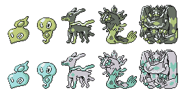 Zygarde GSC Sprites by Axel-Comics