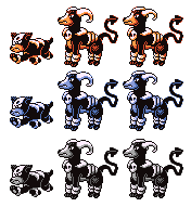 Houndour Houndoom RGB Sprites by Axel-Comics