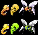 Weedle Kakuna Beedrill Pixel-overs by Axel-Comics