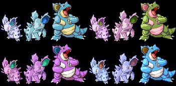 Image result for shiny nidoran in pokemon go