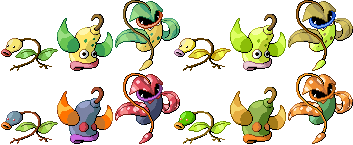 Bellsprout Weepinbell Victreebel Pixel-overs by Axel-Comics