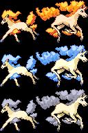 Ponyta Rapidash Pixel-overs by Axel-Comics