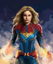 Captain Marvel by crazyL0cke