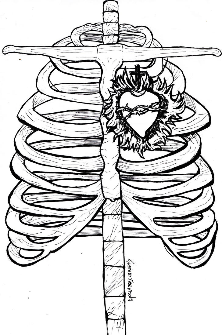 It's just a picture of Lucrative Sacred Heart Drawing