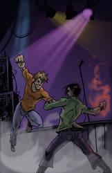 Scott Pilgrim vs Matthew Patel by artsox