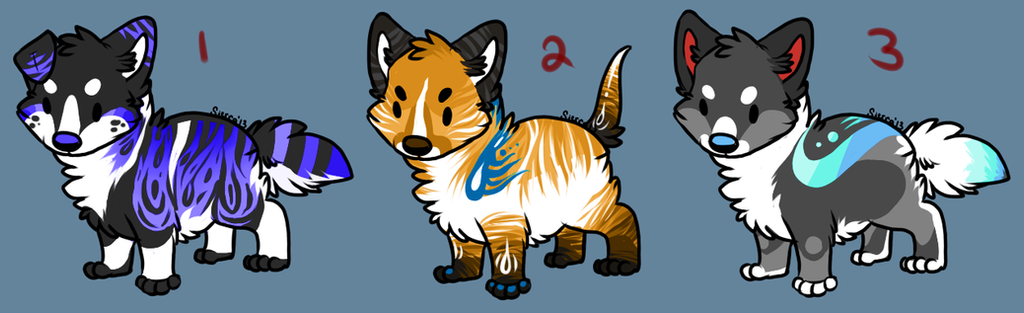 Puppy Cheeb Adoptables: (CLOSED) by SierratheSharkDoge