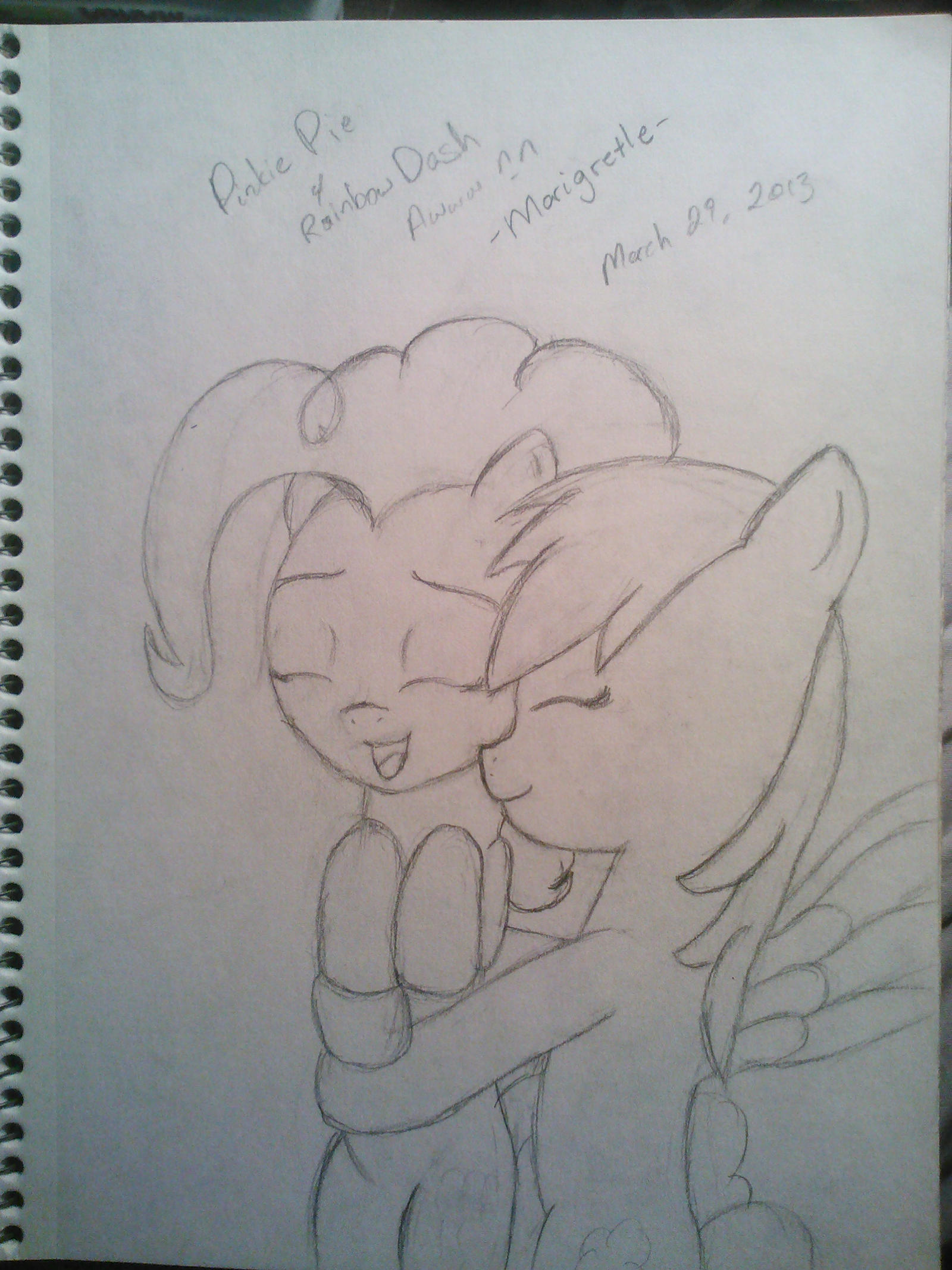 PinkieDash huggle by Marigretle