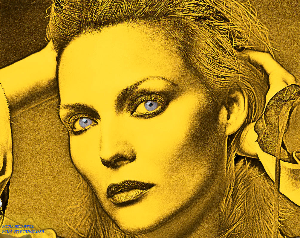 Michelle Pfeiffer in gold #2 by Creativemohamedadel