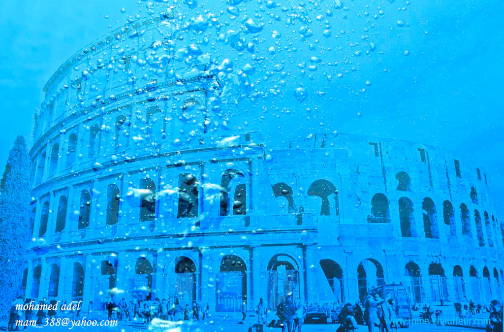 The colosseum underwater by Creativemohamedadel