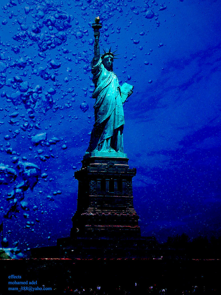 The statue of Liberty Underwater by Creativemohamedadel