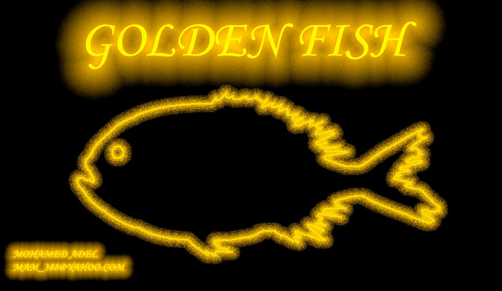 GOLDEN FISH LOGO by Creativemohamedadel