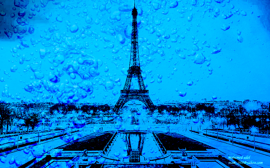 Eiffel Tower under water by Creativemohamedadel