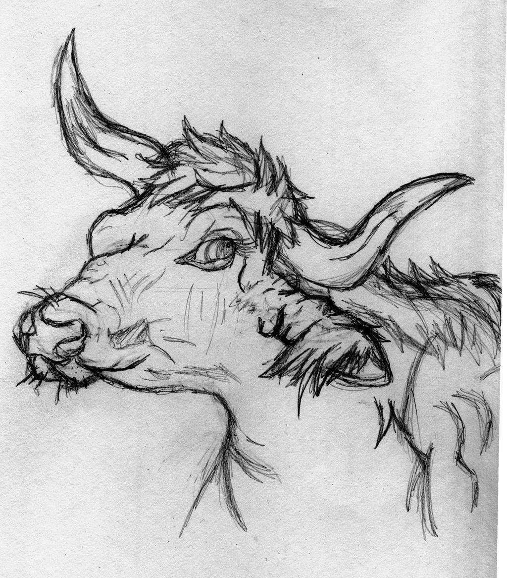 Cow sketch 2 by Slawterthewolf
