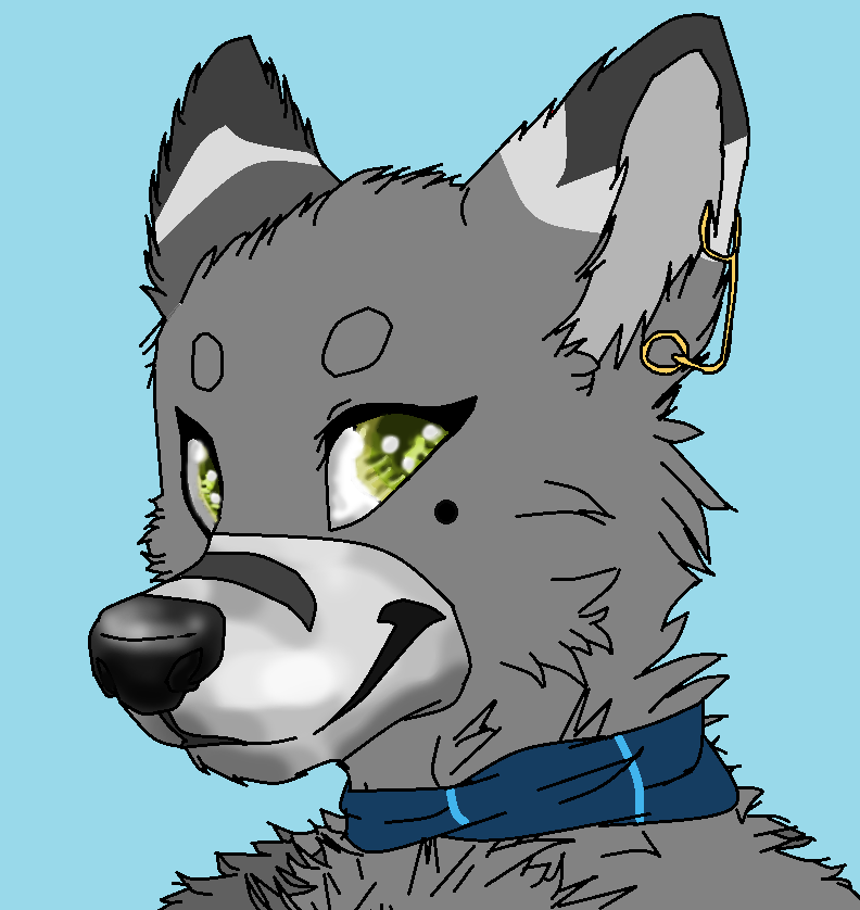 Comm anthro bust Oc by Slawterthewolf