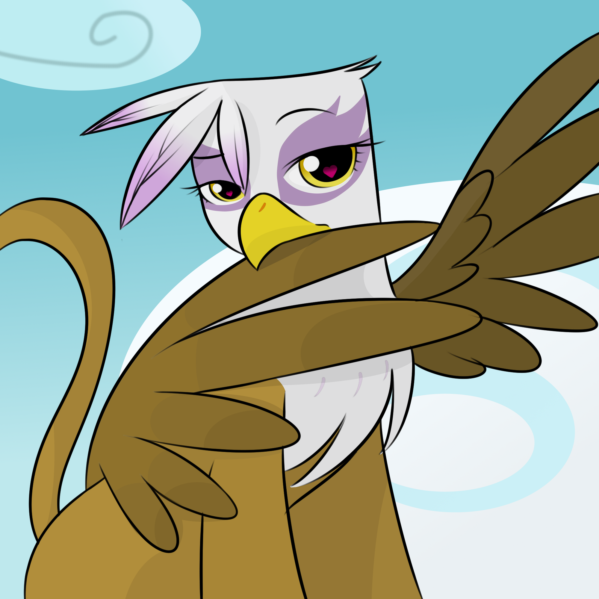 Gilda Preening By Kloudmutt by DizzyPacce