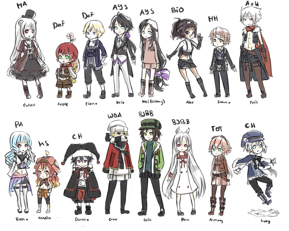 Roleplay Original Characters by bentez
