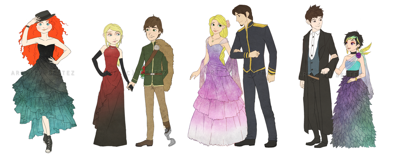 Big Four: Yule Ball by benteja