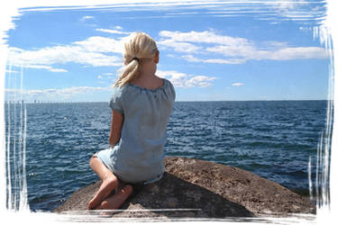 Girl at the sea by Butterflybarna