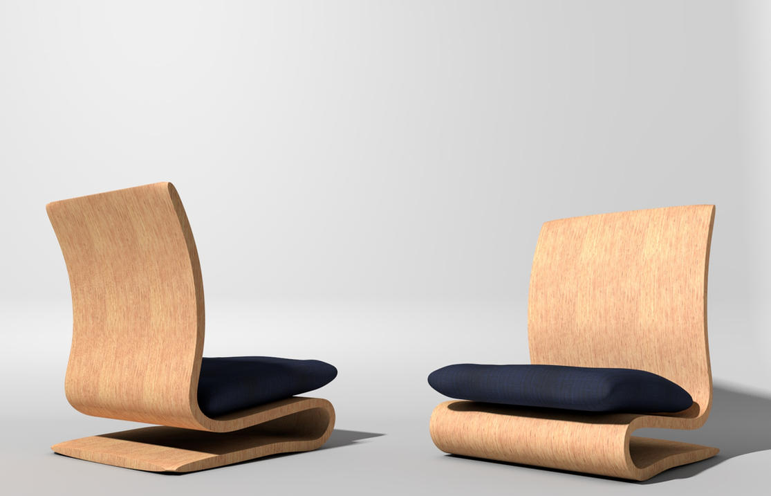 Lovely Japanese Chair 3d By Nolfen ...