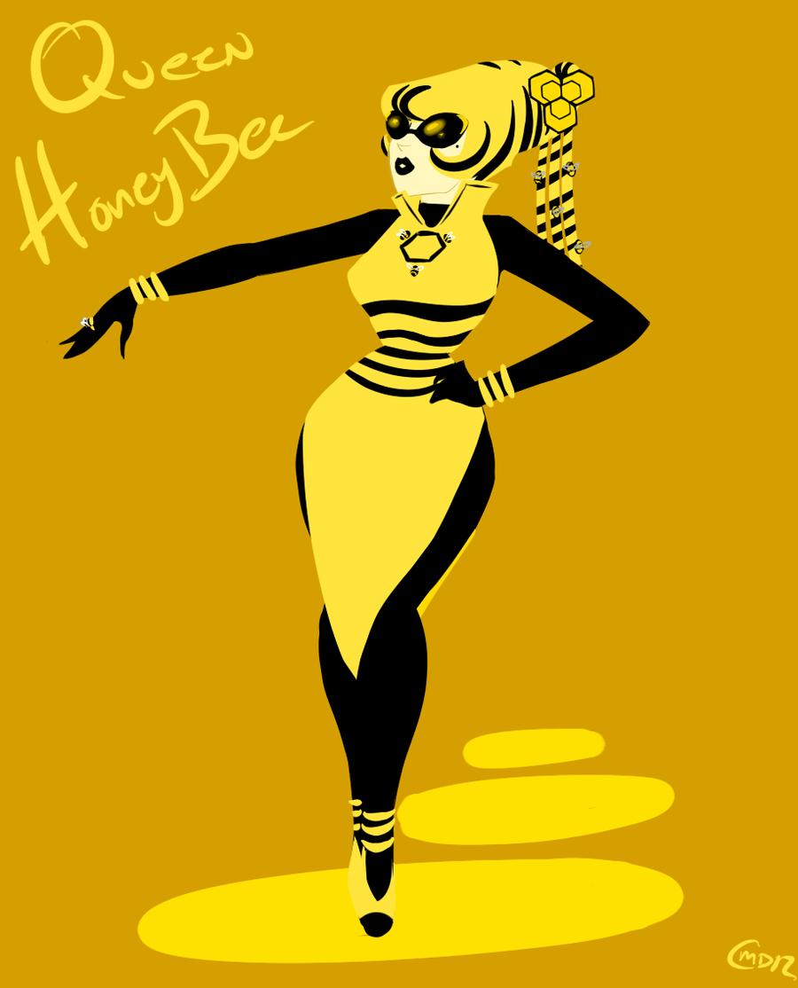 Honey bee queen mario