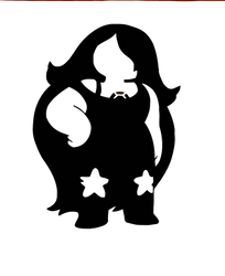 Steven Universe Stencil - Amethyst