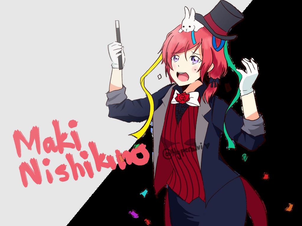 Magician Maki Nishikino by Hyperalvi