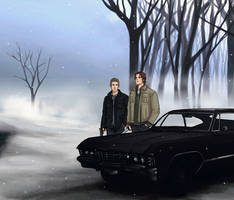 Winter With the Winchesters by littleshade