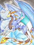 Commisson for Sunrise-LoneWolf: Ice Dragon Cykron