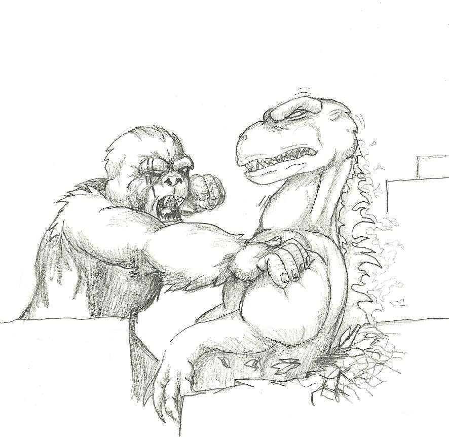 King Kong vs. Godzilla by SXGodzilla on DeviantArt
