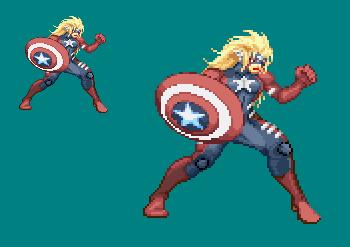 Sprite Work: American Hero by SXGodzilla