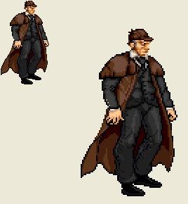 Sprite Stuff: Sherlock Holmes by SXGodzilla