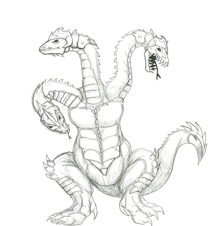 Kaiju Concept: Trimagorra (v.B) by SXGodzilla on DeviantArt
