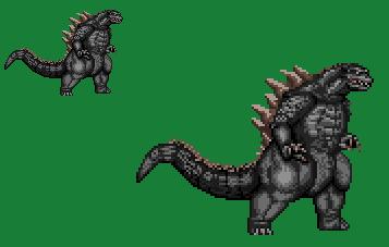 Sprite Stuff: 'Legendary Pictures' Godzilla by SXGodzilla