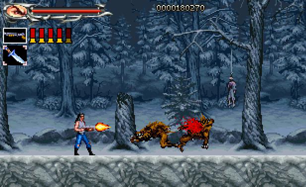 Sprite Stuff: Fake 'Werewolf Hunter' VG Screenshot by SXGodzilla