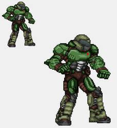 Sprite Work: Doom Slayer by SXGodzilla