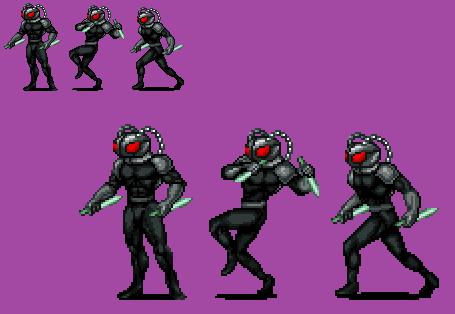 Sprite Stuff: Black Manta (16-bit Style) by SXGodzilla