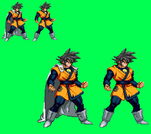 Sprite Idea: Earth-2/'Golden Age' Goku (DBDC)
