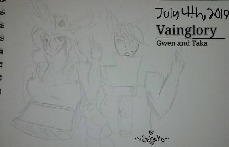 Gwen and Taka (Vainglory) by GIRAFFEislife